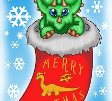 Christmas Triceratops by thekohakudragon
