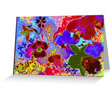 Orchid neon rich glow Greeting Card