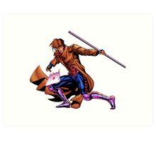 Gambit Xmen Art Print
