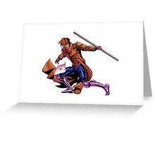 Gambit Xmen Greeting Card