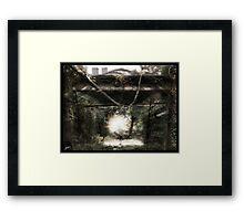 Dystopian Bridge Framed Print