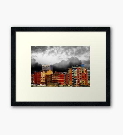 Stormy City Framed Print