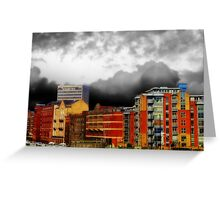 Stormy City Greeting Card