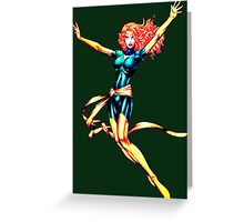 Pixelated Jean Grey (Phoenix) Greeting Card