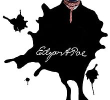 Edgar Allan Poe ink blot Culture Cloth Zinc Collection by CultureCloth