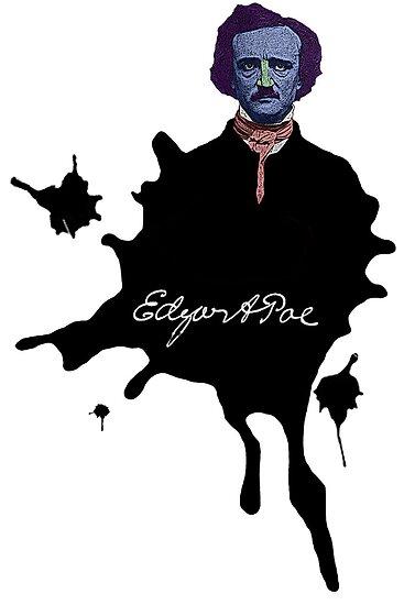 Edgar Allan Poe ink blot Culture Cloth Zinc Collection by CultureCloth