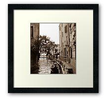 Empty Gondola  Framed Print