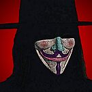 Guy Fawkes V for Vendetta Anonymous mask Culture Cloth Zinc Collection by CultureCloth