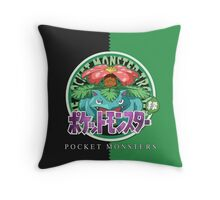Pocket Monsters Green Throw Pillow
