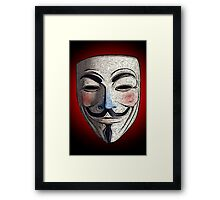 Guy Fawkes V for Vendetta Anonymous mask 3 Culture Cloth Zinc Collection Framed Print