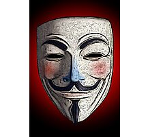 Guy Fawkes V for Vendetta Anonymous mask 3 Culture Cloth Zinc Collection Photographic Print