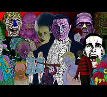 Horror Movie Collage by Culture Cloth Zinc Collection by CultureCloth