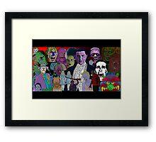 Horror Movie Collage by Culture Cloth Zinc Collection Framed Print
