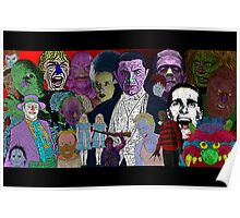 Horror Movie Collage by Culture Cloth Zinc Collection Poster