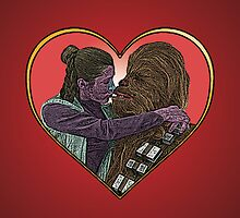 Princess Liea Chewbacca Heart Love Culture Cloth Zinc Collection by CultureCloth