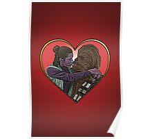 Princess Liea Chewbacca Heart Love Culture Cloth Zinc Collection Poster