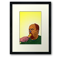 Louis CK banana Culture Cloth Zinc Collection Framed Print