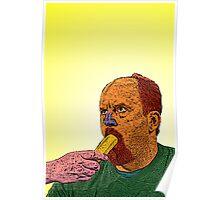 Louis CK banana Culture Cloth Zinc Collection Poster