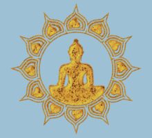 Buddha Meditation, Lotus Flower, Anahata, Heart Chakra Kids Clothes