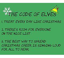 Code of Elves Photographic Print