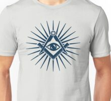 Masonic symbol, all seeing eye, freemasonry  Unisex T-Shirt