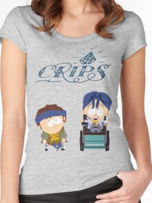 South Park|Jimmy|Timmy|Crips Women's Fitted Scoop T-Shirt