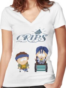 South Park|Jimmy|Timmy|Crips Women's Fitted V-Neck T-Shirt