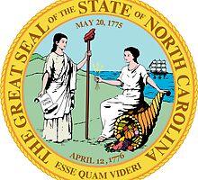 North Carolina | State Seal | SteezeFactory.com by FreshThreadShop