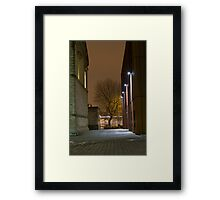 The Last Bus Framed Print
