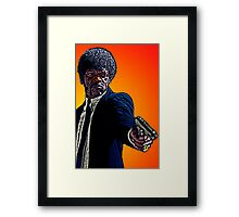 Pulp Fiction Samuel L. Jackson by Culture Cloth Zinc Collection Framed Print