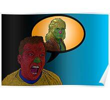 Star Trek Captain Kirk Kahn!  by Culture Cloth Zinc Collection Poster