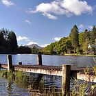 Scotland,Loch Ard With Ben Lomond In The Distance by Jim Wilson