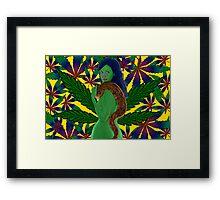 Weeds Nancy Marijuana Leaf by Culture Cloth Zinc Collection Framed Print