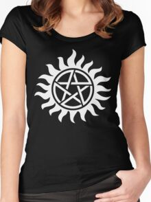 Supernatural Tattoo (white) Women's Fitted Scoop T-Shirt