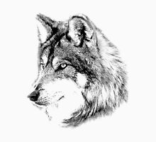 Wolf Face. Majestic Wolf Gazes Into The Distance. Unisex T-Shirt