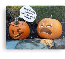 Pumpkin Eater Metal Print