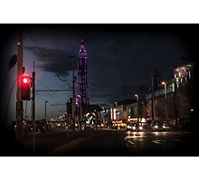 Tower at Night Photographic Print