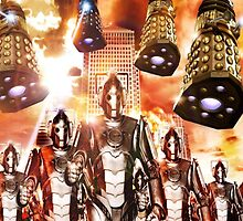 Cybermen and Dalek invasion by kobalos