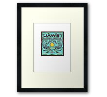 JAWS HAWAII SURFING Framed Print