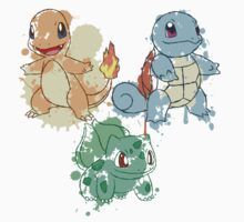 Starter Pokemon Splatter Kids Clothes