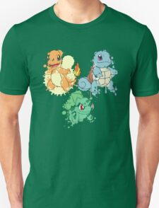 Starter Pokemon Splatter T-Shirt