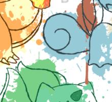 Starter Pokemon Splatter Sticker