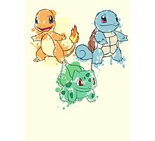 Starter Pokemon Splatter Photographic Print