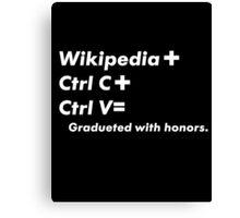 Wiki Gradueted Canvas Print