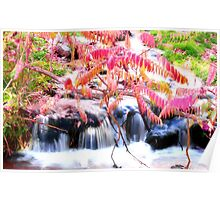 Autumn Falls in Pink Poster