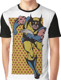Wolverine Comic Dots Graphic T-Shirt