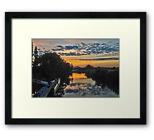 Sunset from the Bridge at Upton-on-Severn Framed Print