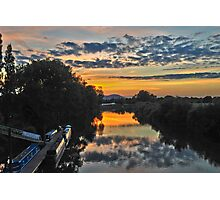Sunset from the Bridge at Upton-on-Severn Photographic Print