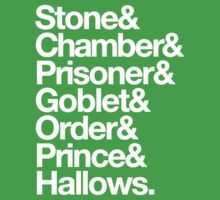 Stone & Chamber & Prisoner & Goblet & Order & Prince & Hallows Helvetica Kids Clothes