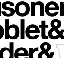 Stone & Chamber & Prisoner & Goblet & Order & Prince & Hallows Helvetica Sticker